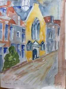 foto waalse kerk aquarel betty 1999